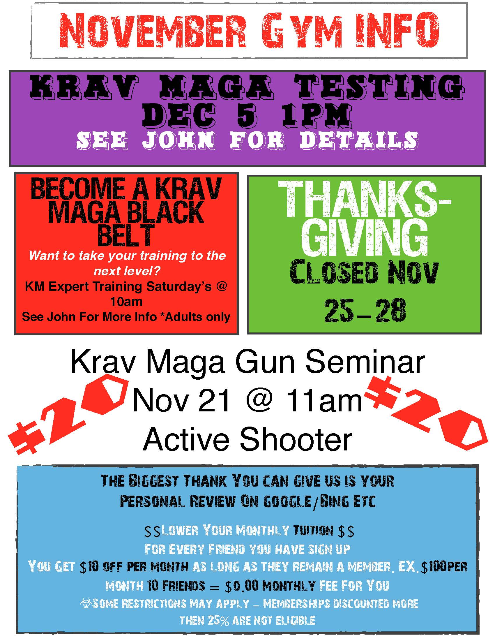 Nov Gym Events