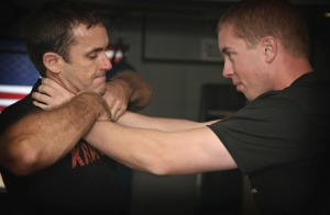 Krav Maga Choke from the Front Defense
